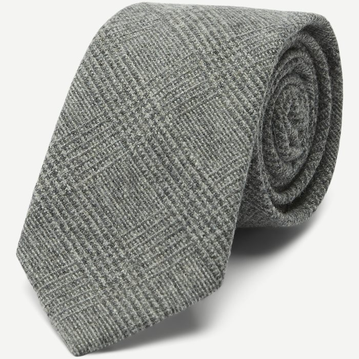 Prince Wool Tie 7.5 cm - Ties - Grey